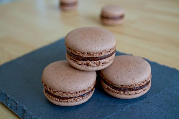 Chocolate macarons - 05