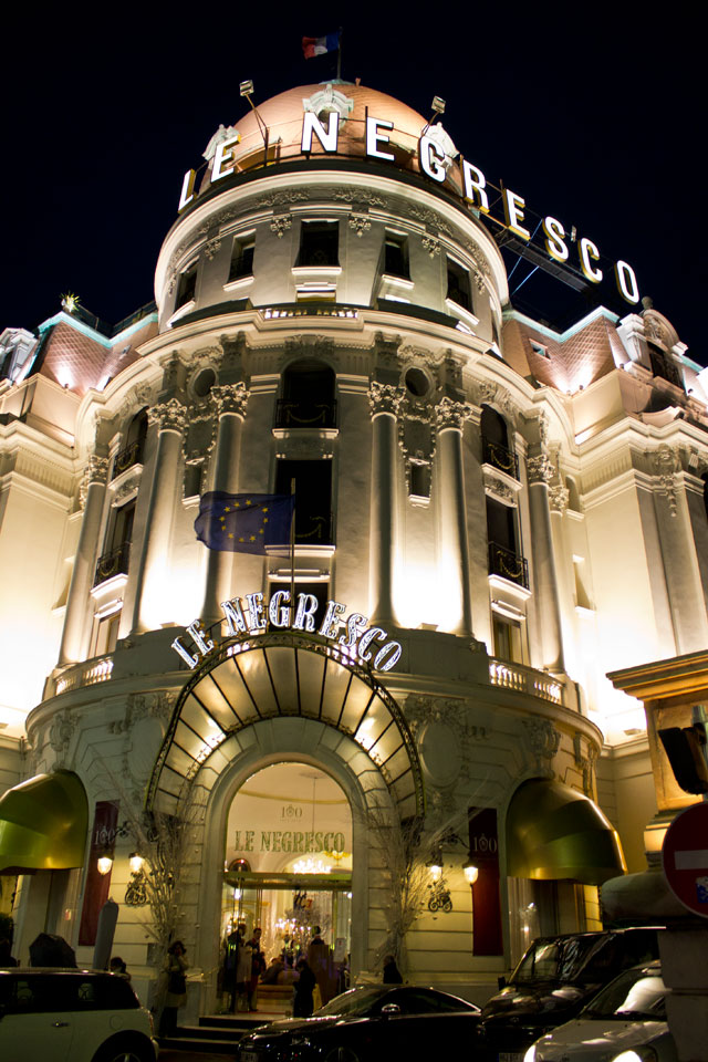 The entrance of Le Negresco in Nice