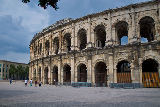 The Roman arena in Nîmes