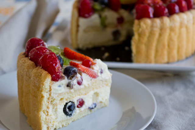 Fruit Charlotte Cake Recipe