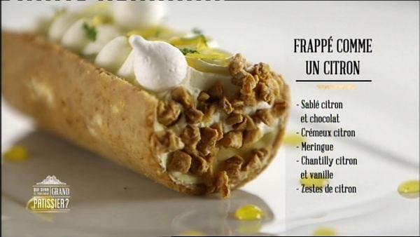 Revisited plated lemon tart by Brahim - Qui sera le prochain grand pâtissier