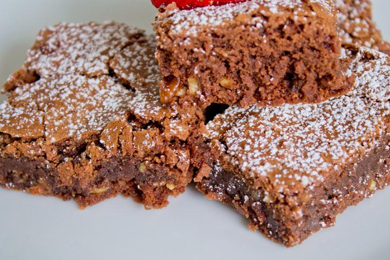 Chocolate fudge brownies - 05