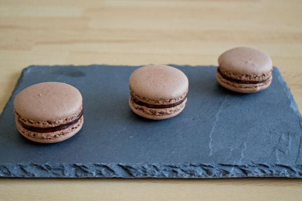 Chocolate macarons - 01