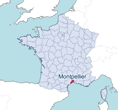 Montpellier - Map