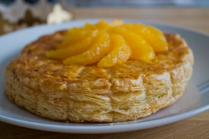 Galettes des rois with almonds, oranges and Grand Marnier