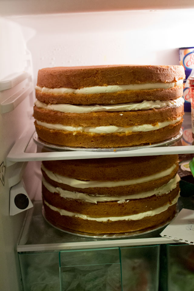 Who said I couldn't fit 2 huge cakes in my fridge? Then there wasn't space for anything else, though...