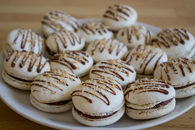 Milk Chocolate And Coconut Macarons Italian Meringue Road To Pastry