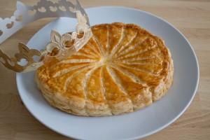 Galette des rois with frangipane cream