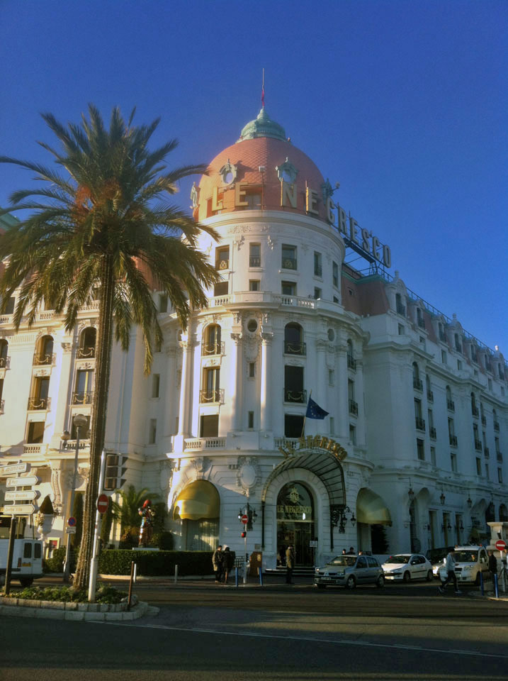 The façade of the hotel Le Negresco in Nice