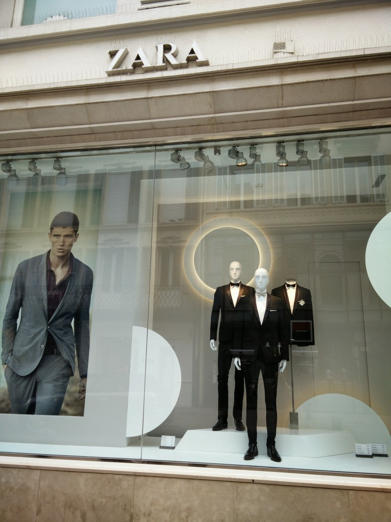 Zara selling Tuxedos in Cannes